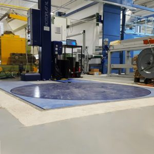 Piattaforma industriale di pesatura per avvolgitori