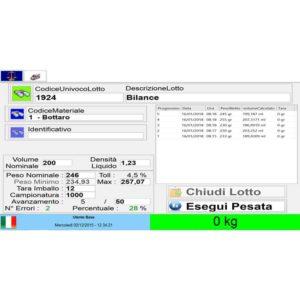 Schermata principale del software statistico e personalizzabile di Bottaro