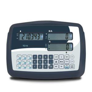 Terminale contapezzi modello TC15 con 3 display e tastierino numerico